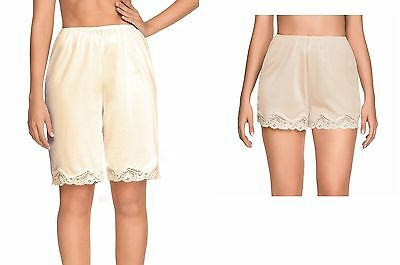 "Nwt Women's Romantic Anti Static Pettipants Slip Bloomers 14"" 20"" Length S-2Xl"