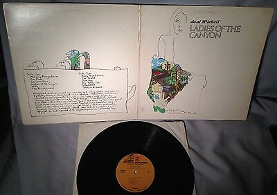 LP JONI MITCHELL Ladies of the Canyon FLIPBACK RS 6376 CANADA NM/EX