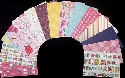 """*FASHIONISTA* Colourful Scrapbooking/Cardmaking Papers x 14- 15cm x10cm-(6""""x 4"""")"""