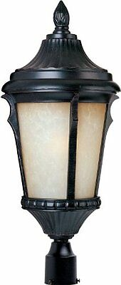 55010 Odessa LED Outdoor Pole/Post Mount Lantern, Espresso Finish, 9 by 20.5-""