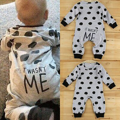 Newborn Toddler Infant Kid Baby Boy Girl Bodysuit Romper Jumpsuit Outfit Clothes