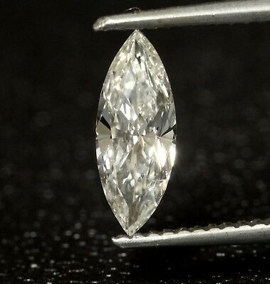 marquise cut loose diamond GIA certified .70ct  SI2  H vintage estate antique
