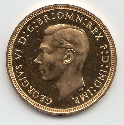 Rare 1937 King George Vi Proof Gold Half Sovereign Coin