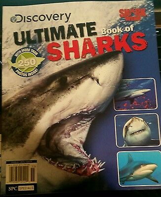 Ultimate Book Of Sharks Discovery Network Brand New !