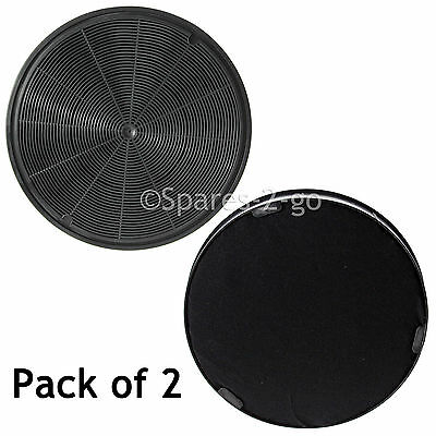 2 x Carbon Charcoal Filters for NEFF Cooker Hood Extractor Equiv: 748733 195mm