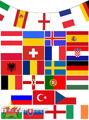 Faulty Euro Football 2016 Bunting 35Ft Flag Decoration 24 Flags All Countries
