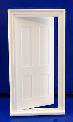 Dolls House Builders DIY 1:24 Scale Miniature Classic White Plastic 4 Panel Door