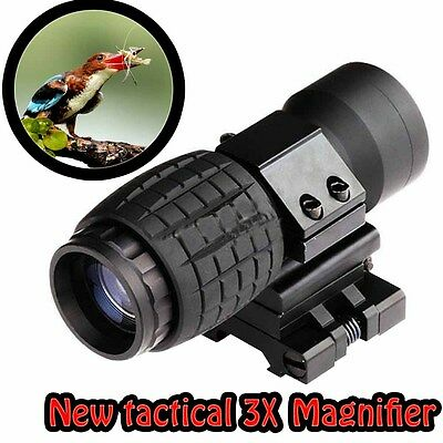 NEW Tactical 3X Magnifier FTS Flip To Side For Eotech Aimopint Similar Scopes B