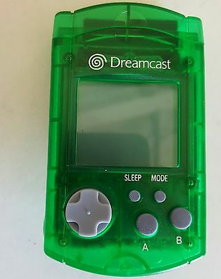 New Loose Official Oem Sega Clear Green Dreamcast Visual Lcd Memory Unit Card