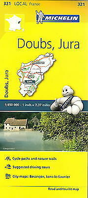 Michelin Map 321 Doubs Jura France Local Road and Tourist