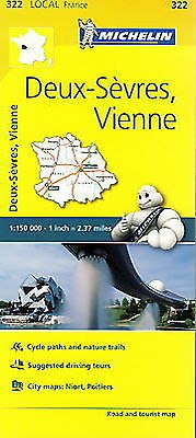 Michelin Map 322 Deux Sevres Vienne France Local Road and Tourist
