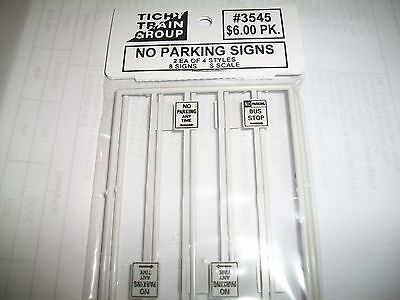 Tichy S Scale No Parking Signs 8 pieces  #3545  Bob The Train Guy