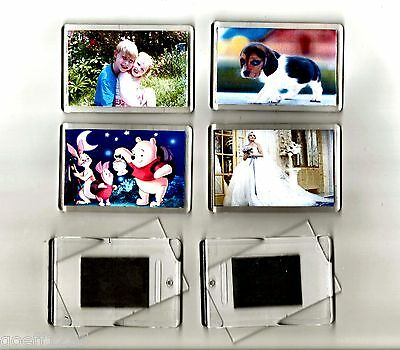 10 premium quality scratch free BLANK INSERT photo make your own fridge magnets