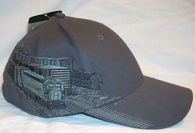 Dri Duck Railroad Train Engine Embroidered Charcoal Baseball Cap Hat Adjustable