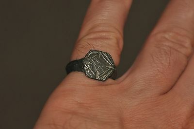 Ancient Museum Quality Roman Empire Soldier Legionary Wearable Ring Sz 8.5