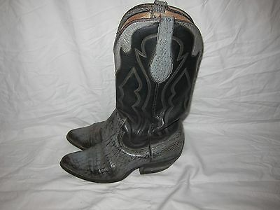 50f80febc96 VINTAGE CROWN BOOT Company Men's 9.5 D Brown Exotic Leather Western ...