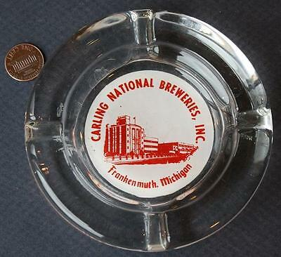 1970s Era Frankenmuth,Michigan Carling National Breweries Beer glass ashtray!