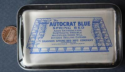 1890s-1900s Era Louisville,Kentucky Autocrat Blue Shannon Spring Bed paperweight