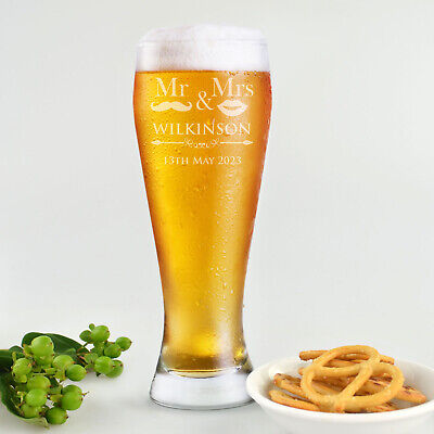 Personalised Favours Beer Glasses for Groomsmen - Father of the Bride / Best Man