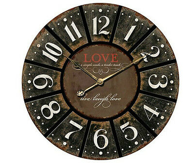 Large Inspirational French Provincial Shabby Love ~ Wall Clock