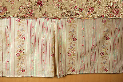 Greenland Home - Antique Rose Bed Skirt 15 Inch Twin Multi GL-WB0726-BSKT New
