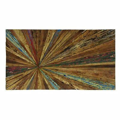 Deco 79 Wood Abstract Wall Decor, 60 by 32-Inch 38433 New