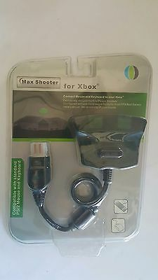 Max Shooter FPS Use PC Mouse & Keyboard Converter Adapter for The XBOX original