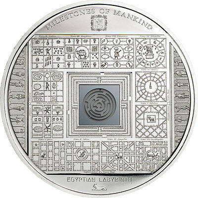 2016 Milestones of Mankind EGYPTIAN LABYRINTH MAZE $10 Silver Coin Cook Islands
