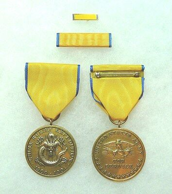 US Department of the Army, China Campaign Medal, set of 3