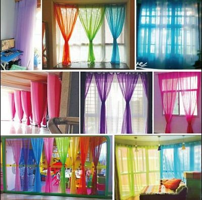 Valances Tulle Colors Floral Tulle Voile Door Window Curtain Drape Panel Sheer