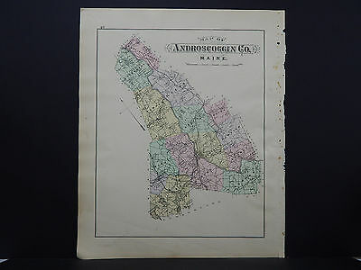 Maine, Antique Map, 1903 Androscoggin County NOT A REPRODUCTION J20#23