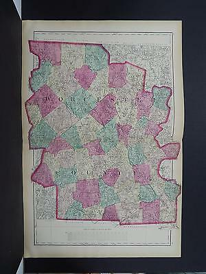 Massachusetts, Antique Map, 1871 Worcester County NOT A REPRODUCTION Y15#94