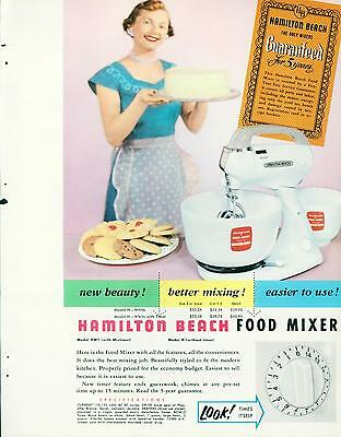 Catalog Page Ad Hamilton Beach Food Mixer Meat Grinder Coffee Housewife's 1956