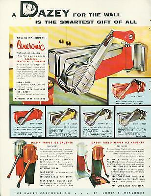 Catalog Page Ad Dazry Kitchen Can Opener Ice Crusher Egg Beater Sharpener 1956