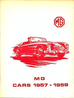 MG Cars 1957-1959 MGA inc Twin Cam Magnette  -  VERY USEFUL BROOKLANDS BOOK