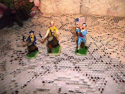Revoluionary Soldiers Figures Fife And Drummers Miniature Set/ 3 Hong Kong