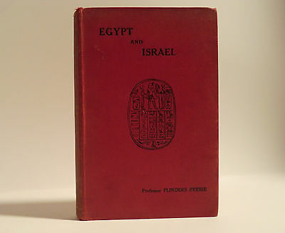 1912 'egypt & Israel' By W. M. Flinders Petrie; Society For Christian Knowledge