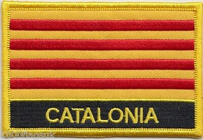 France Catalonia Flag Embroidered Patch Badge - Sew or Iron on