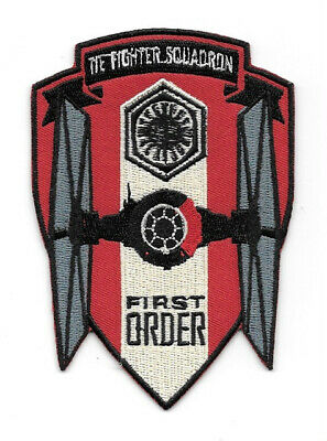 Star Wars The Force Awakens First Order Tie Fighter Squadron Logo Patch UNUSED
