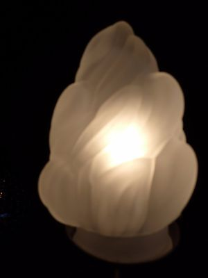"""Flame Globe Fire Shade 5"""" Tall Frosted Glass Statue Of Liberty Shade"""