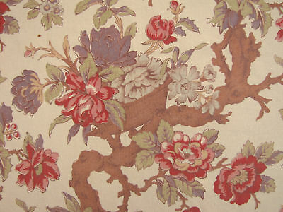 Vintage French Arborescent floral curtain panel c1920