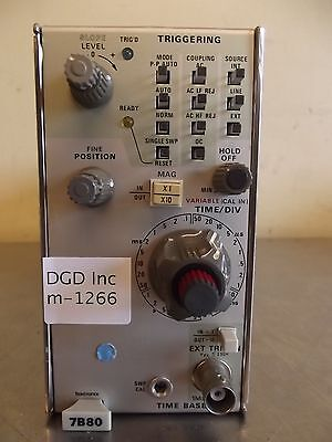 Tektronix 7B80 Time Base-m1266