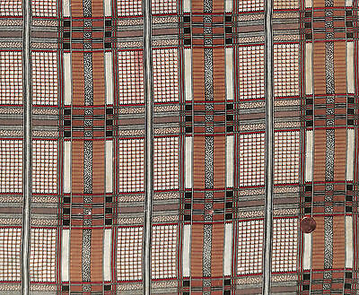 Antique 1850 Plaid Madder Fabric