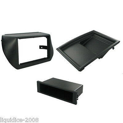 Ct24Ft25 Fiat Qubo 2009 Onwards Black Single Din Fascia With Removeable Pocket