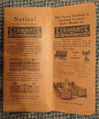 c1890 Stewart Iron Fence Works Company advertising - Cincinnati Ohio