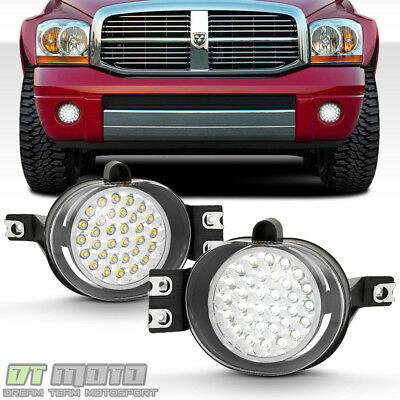 2002-2009 Dodge Ram 32 Super Bright SMD LED Fog Lights Lamps w/Switch Left+Right