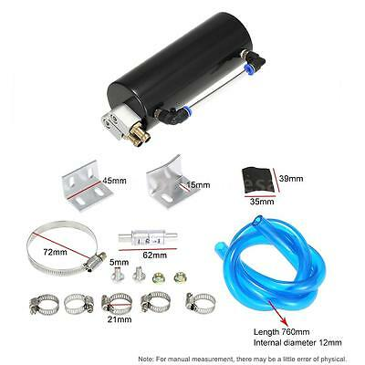 Universal Racing Car Oil Catch Tank Billet Round Turbo Reservoir Can Kit 3 Color