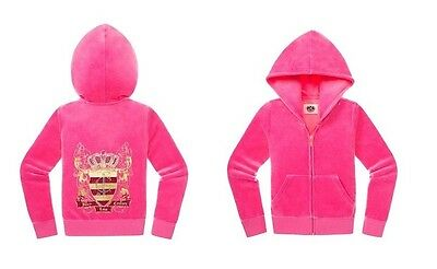 Juicy Couture girls Embellished velour Hoodie  12/14 new $108