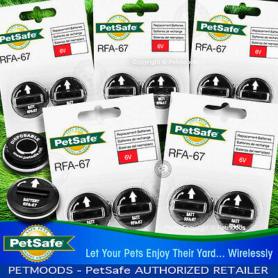 PetSafe RFA-67D-11 Batteries Wireless Fence Dog Collar  PIF-275-19  NEW Qty 10
