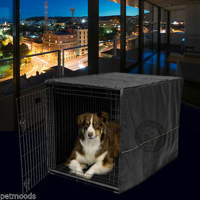"""Dog Crate Cage Kennel Pet COVER ONLY Black MidWest Quiet Time 42"""" Long X-Large"""